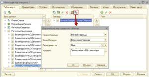 Параметры виртуальной таблицы обороты регистра накопления